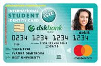 DSK ISIC карта